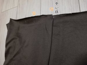 袴のひだを作る写真
