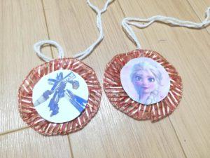 完成したキャラクターメダルの写真