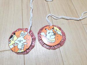 完成したキャラクターメダルの裏面の写真