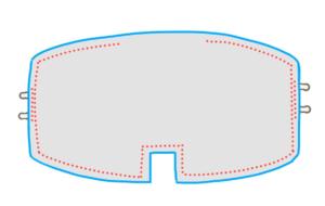 生地を中表に合わせて、返し口を残して一周ぐるっと縫ったイラスト