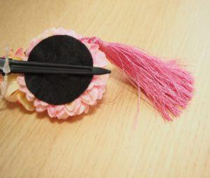 簡単5分で和風なベビー用髪飾りの材料