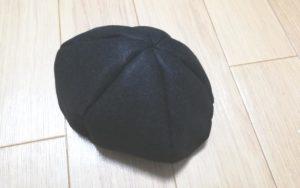 縫い代1cmで縫い合わせ、帽子の形にする写真