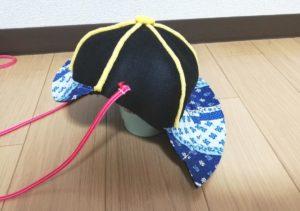 忍緖を縫い付ける写真