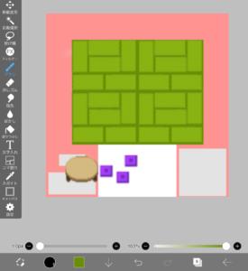 素材を複製して床を作る
