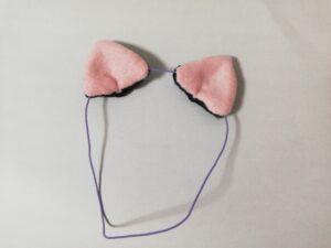 実際に作ったぬい用のねこ耳